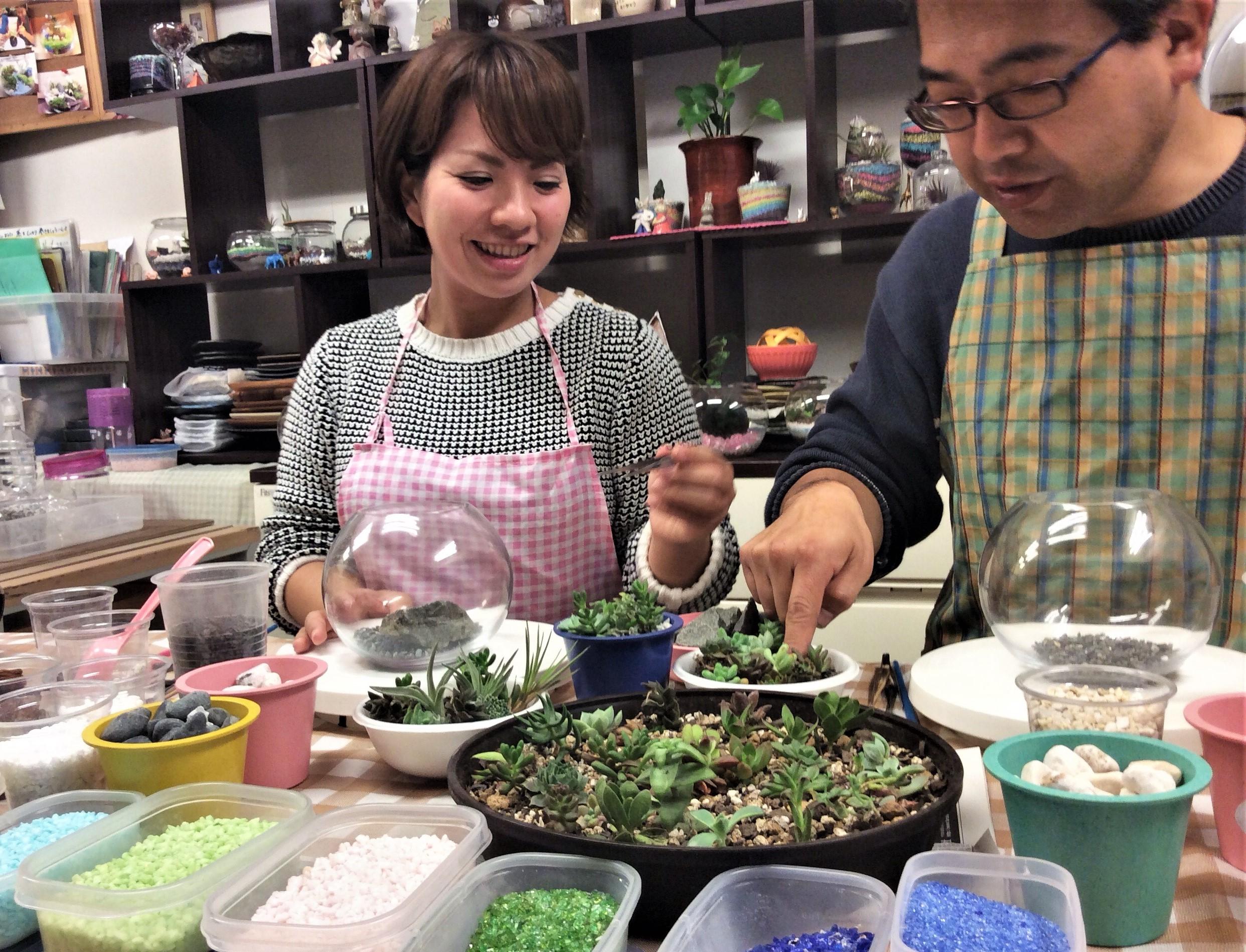 テラリウム☆多肉植物寄せ植えで創作体験(2名様~)